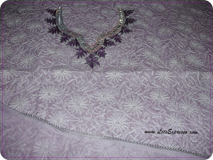Lucknow chikan suits