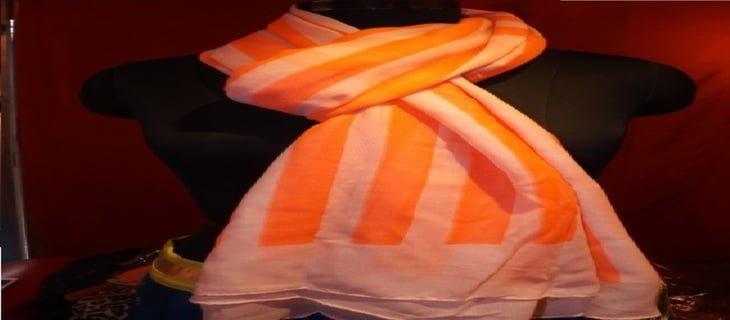 Neon orange scarf