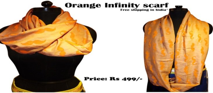Orange Infinity Fashion Scarf