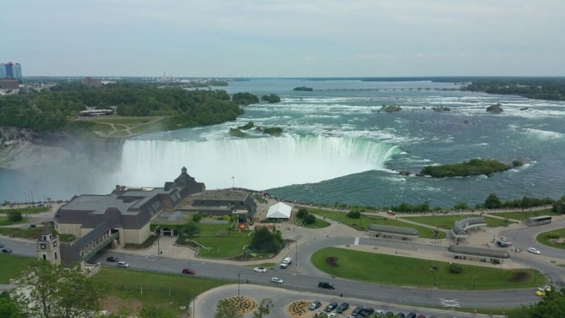 Full View of the Horse Shoe Falls from our room- Imagine the night and the morning view of the falls.