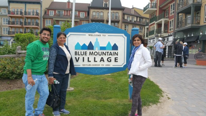 the blue mountains in toronto/2015