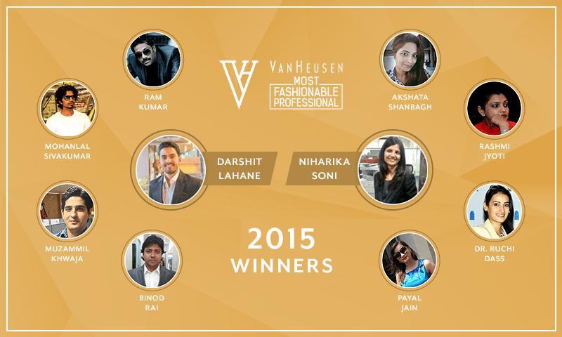Van Heusen #MostFashionableProfessional Winners