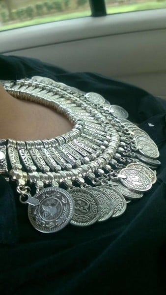 Coin Necklace making an amazing style statement...