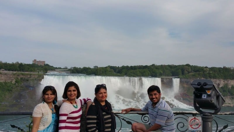 Hello from the American Falls (Behind).