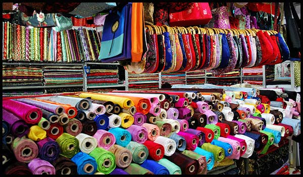 Fabric shop at Lajpat Nagar