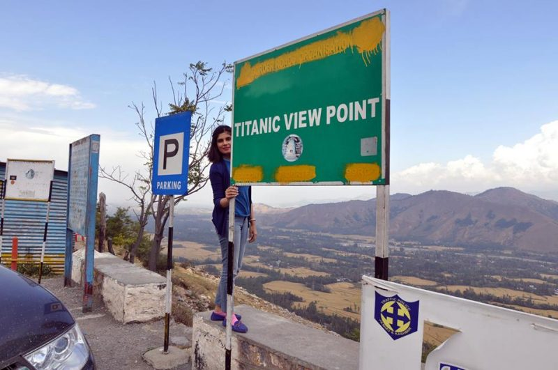 titanic view point overlooking the Srinagar Valley