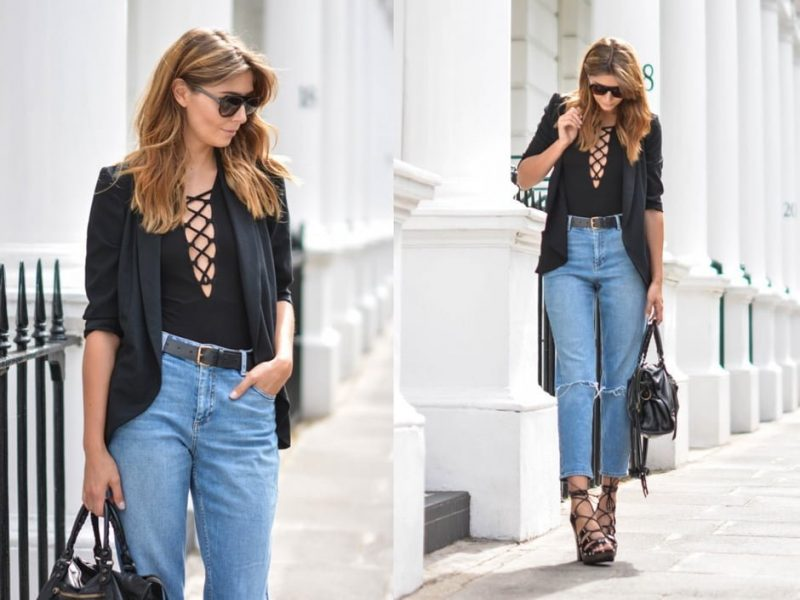 how to wear bodysuit with boyfriend jeans!
