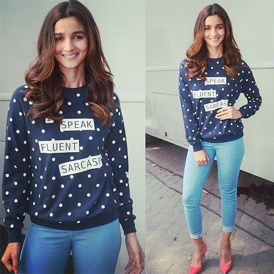 Image result for latest images of alia bhatt in her boyfriend tshirt