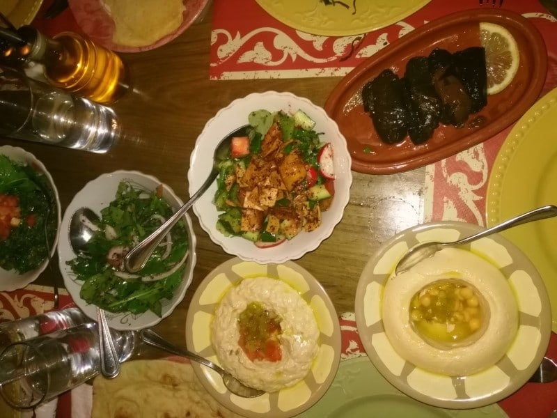 veg food options in Jordan