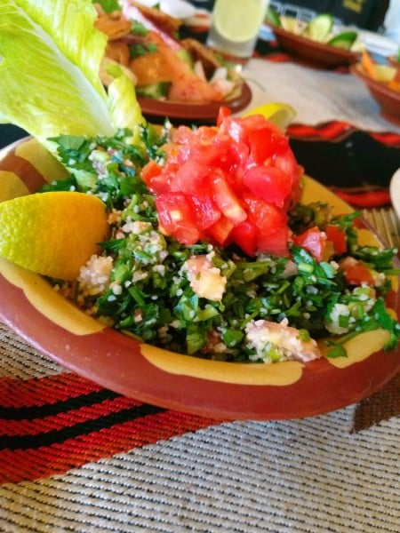 veg Arabic food options in middle east