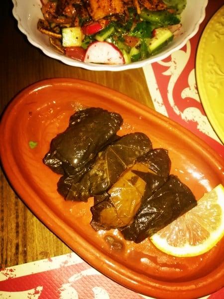 Dawali grape leaf food in Jordan