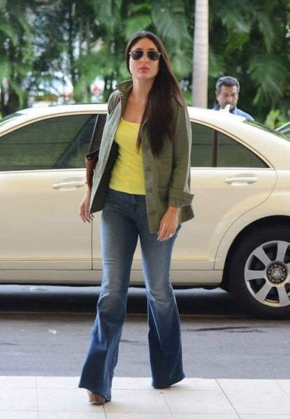 The old boot cut style denims are back in vogue. Even Kareena Kapoor flaunts this retro style.