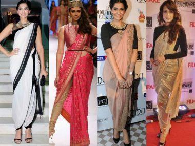 different ways to tie a saree