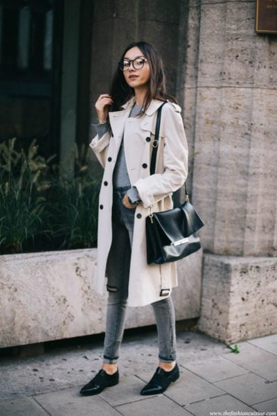 Loving this casual chic look! Source - thefashioncuisine.com