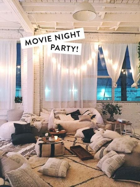 Movie night in with all your besties is what you need! Source - bloglovin'.com
