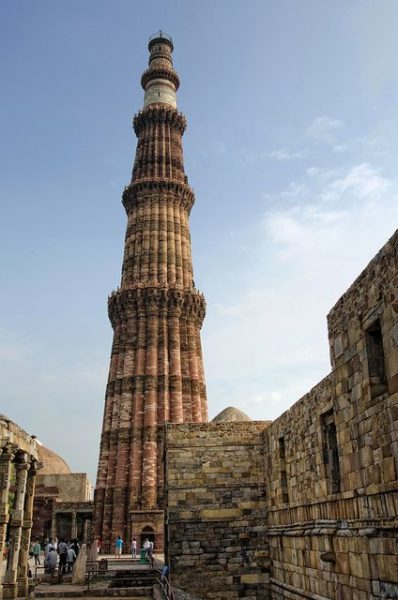 Standing Tall, the epic Qutub Minar. Bestowing its beuaty in various Bollywood songs. Source - flickr.com