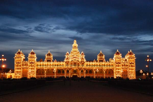 Mysore palace lit up