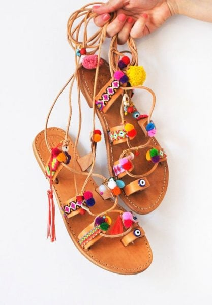 Boho sandals are selling like hot cakes. They can amp up any look... Source - etsy.com
