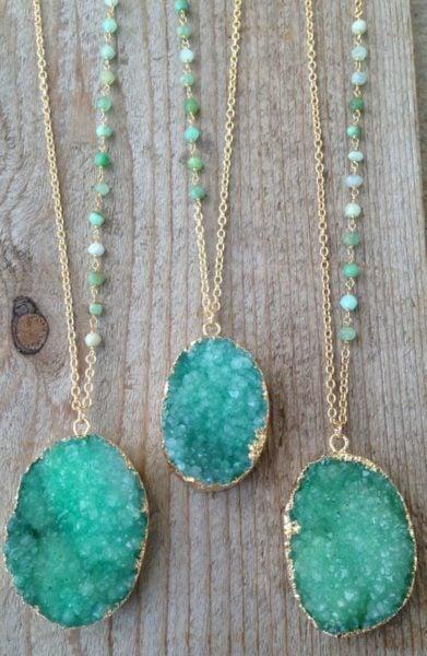 Druzy jewellery
