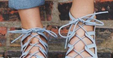 tie up sandals footwear trends 2017