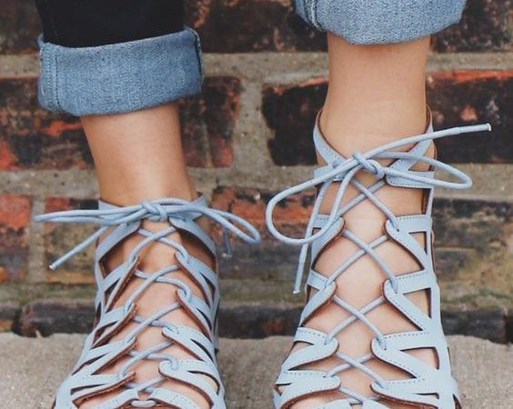 tie up sandals footwear trends 2017