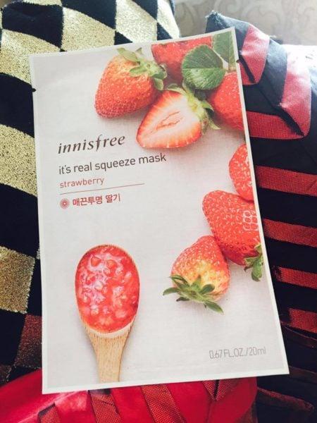Strawberry sheet mask