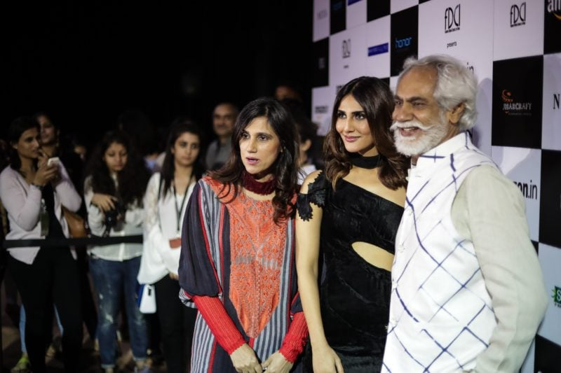 Rina Dhaka, Vaani Kapoor and Suni Sethi at the Rina Dhaka show.