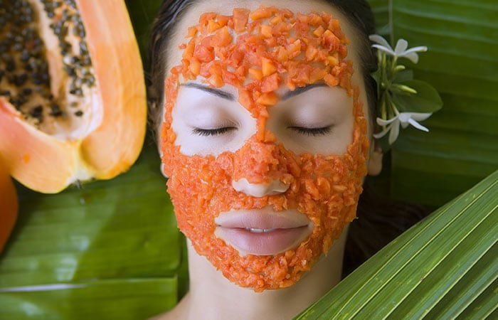 papaya detanning face pack