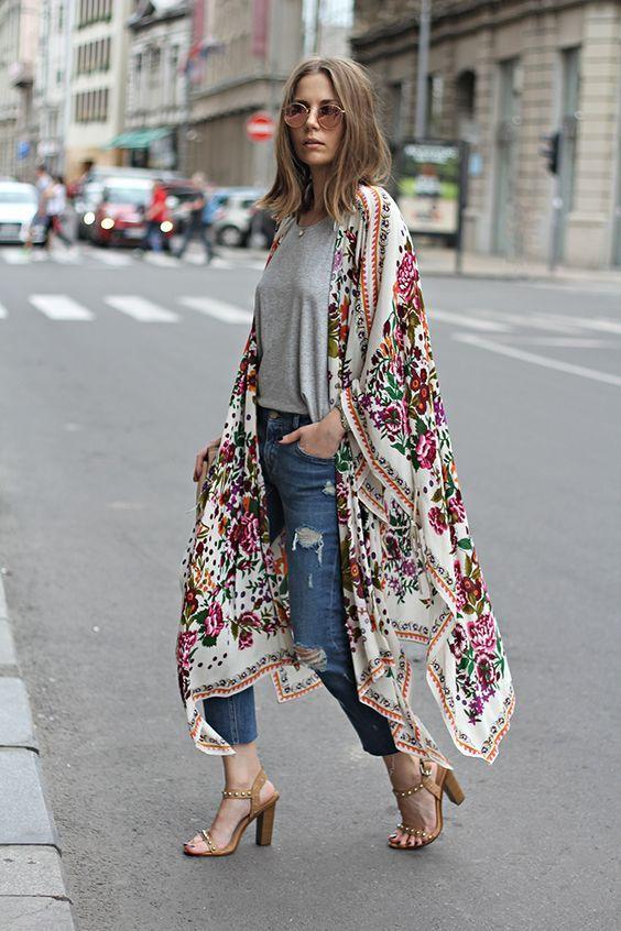 kimono with denims