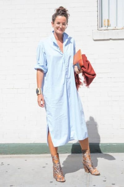 how to wear shirt dresses