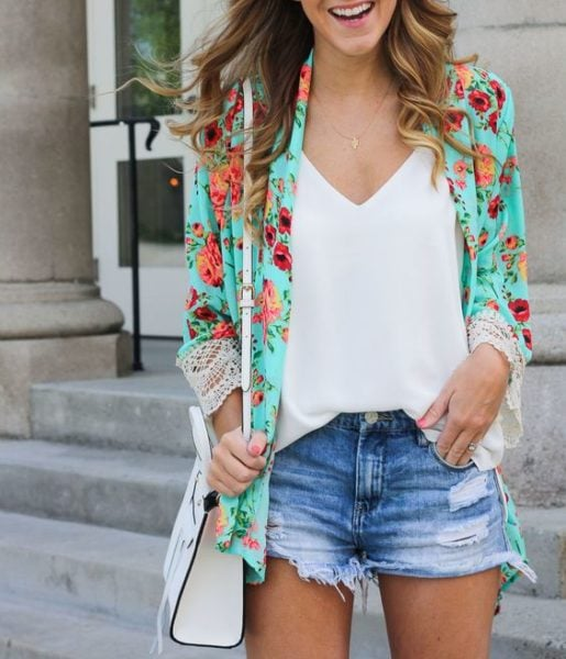 how to style kimono for summers