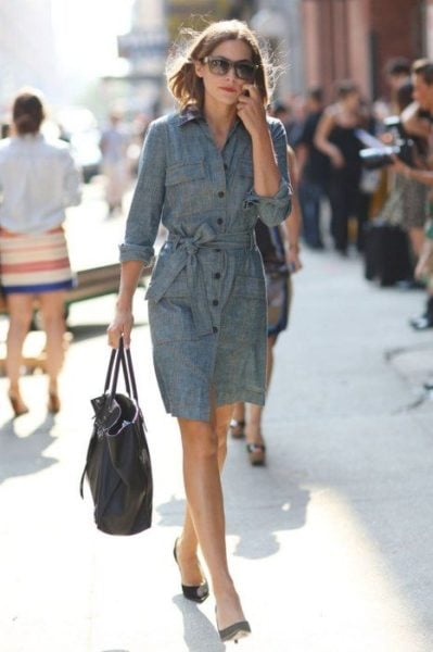 shirt dress outfit inspiration