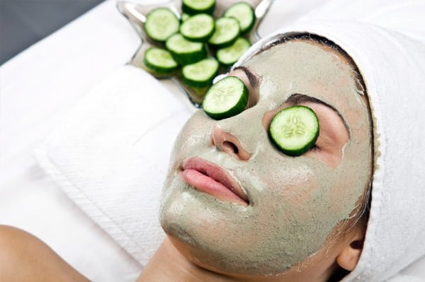 olive oil and cucumber face pack