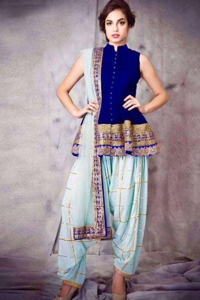 dhoti pants with crop top