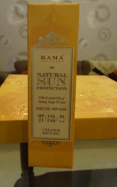 Kama Ayurveda Natural Sun Protection sunscreen Review