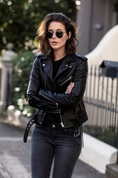 biker jacket outfit ideas