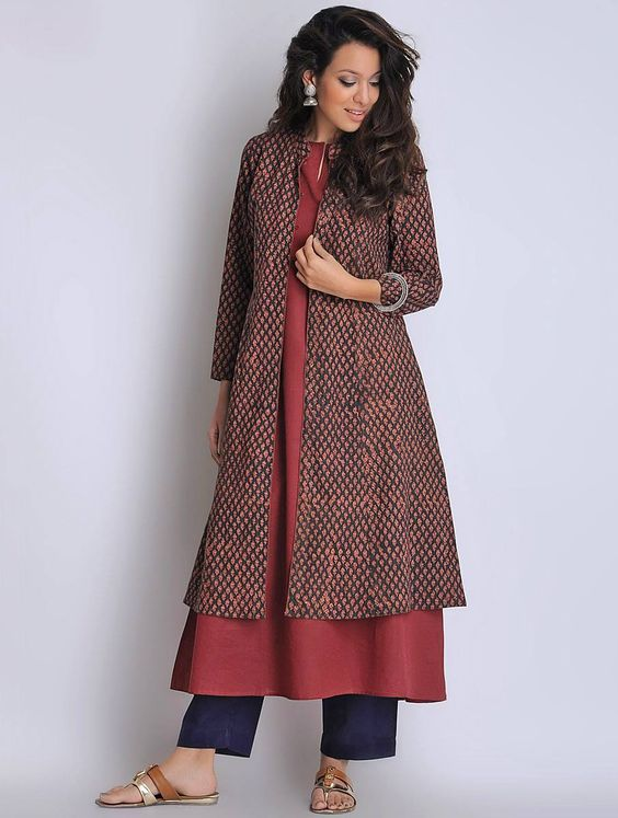 how to wear kurtis in winters
