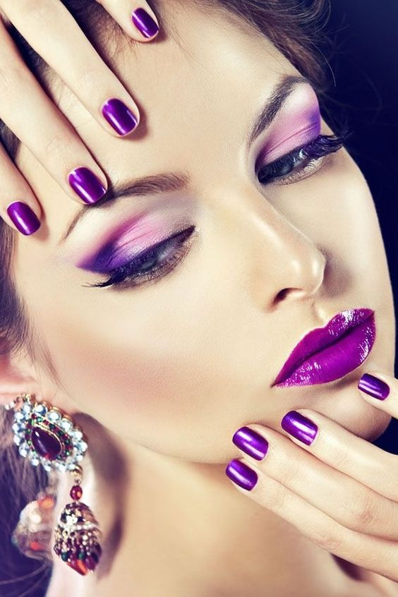 purple make-up trends