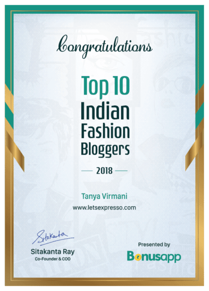 Top Indian Fashion Blogger