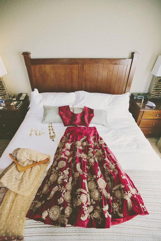how to fold bridal lehnga