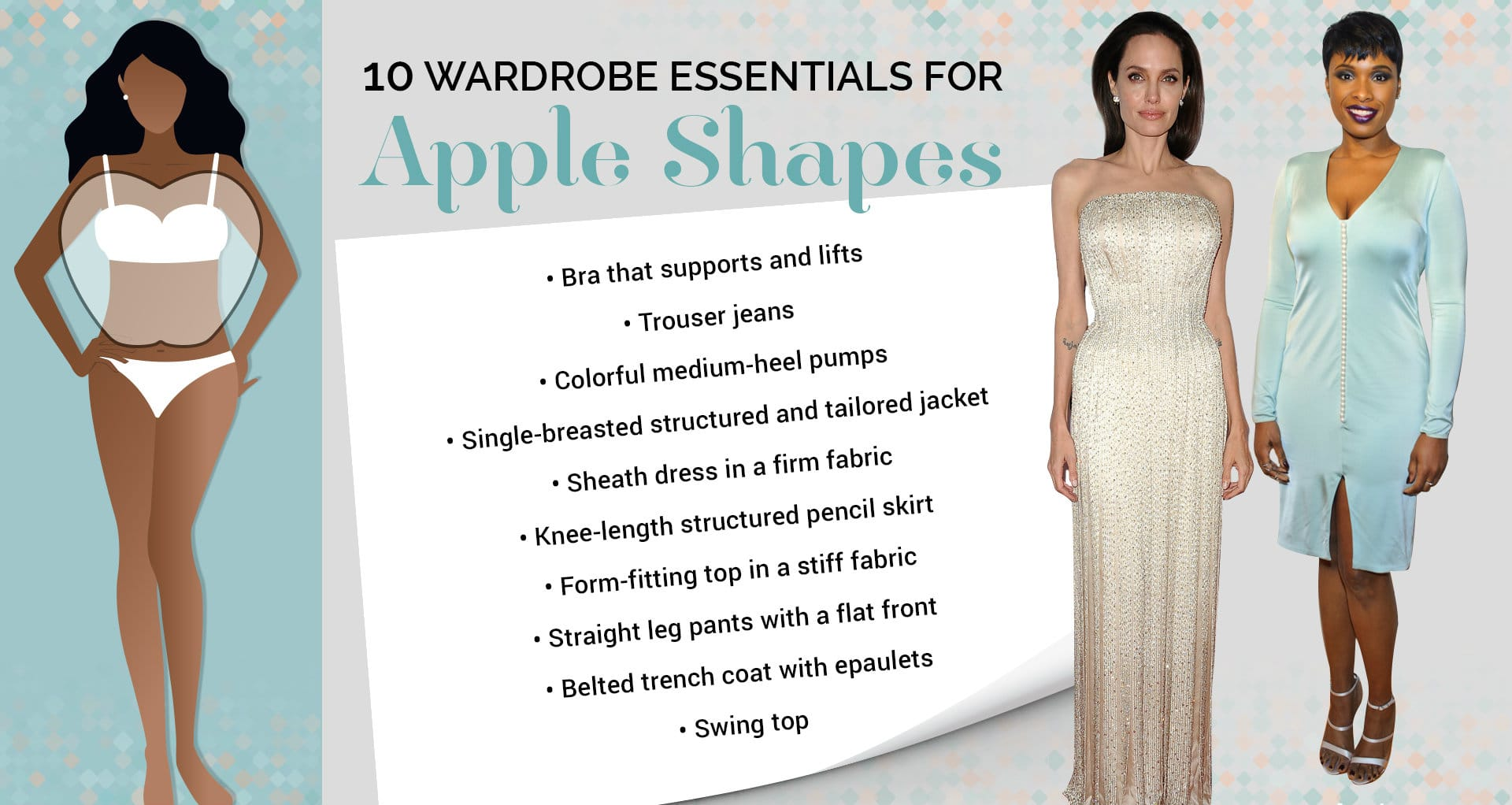 best clothes for apple shaped body