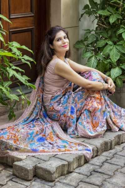 how to style a sari