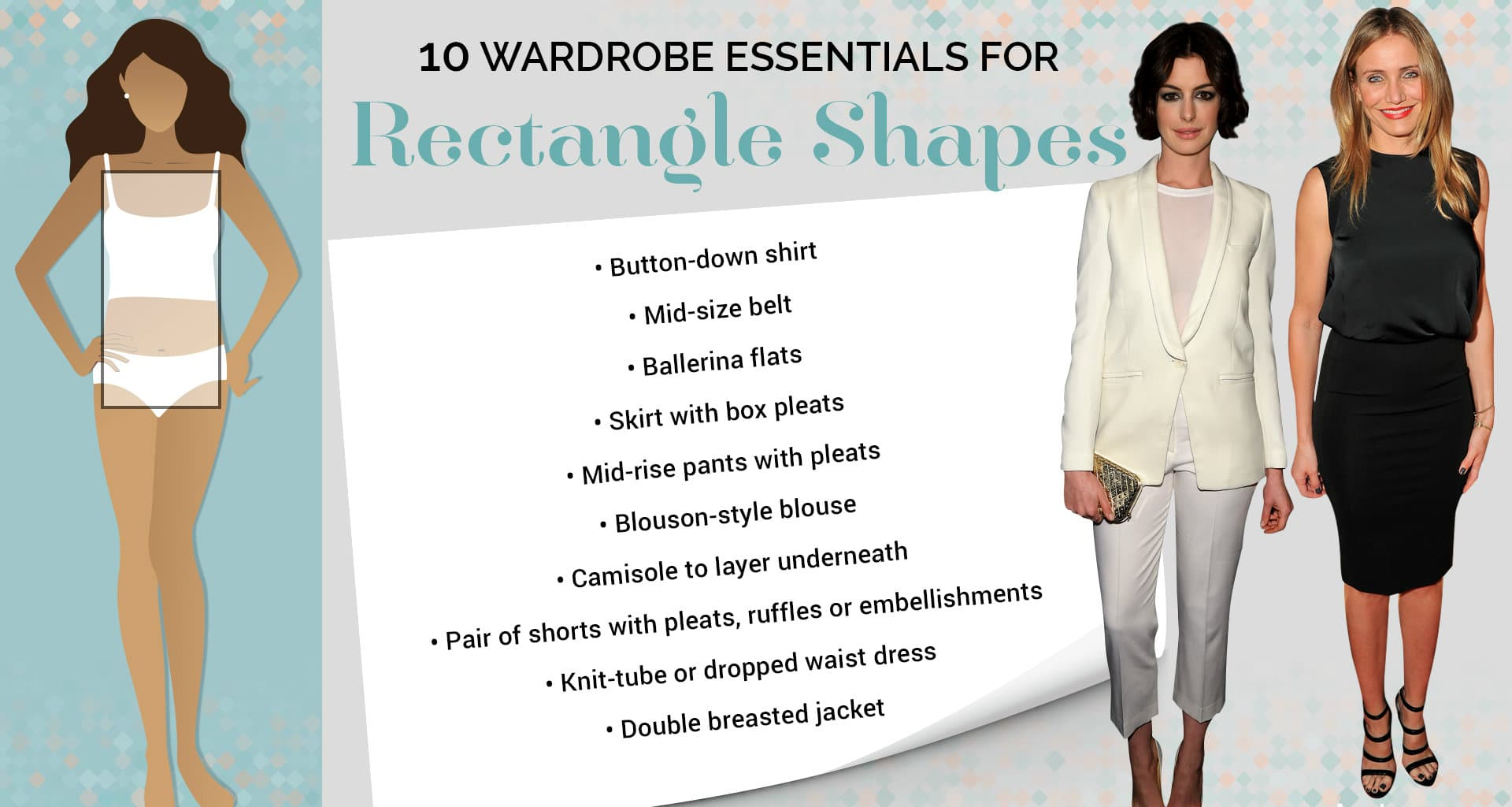 how do dress for rectangle body type
