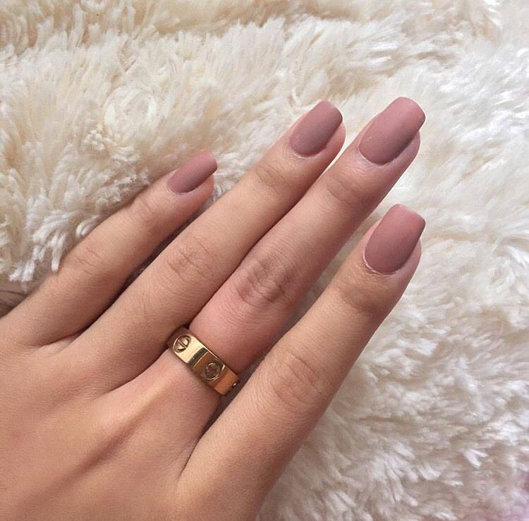 nude matte nail polish