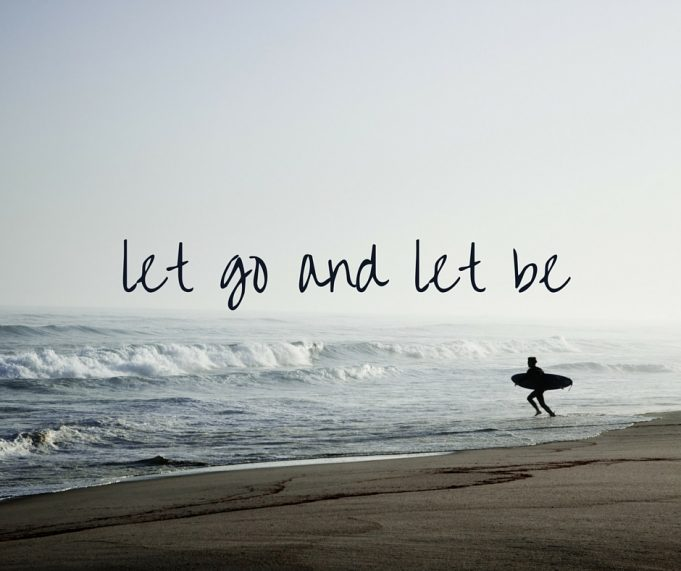 let go of worries and anxieties