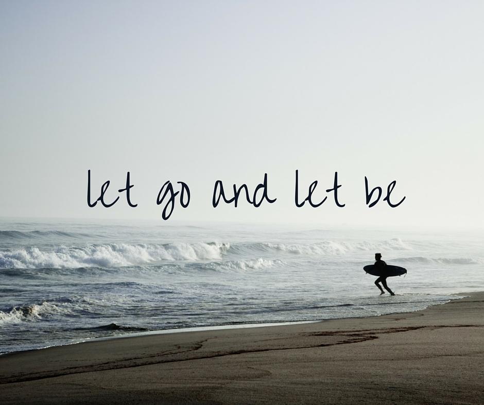 let go of worries and anxieties