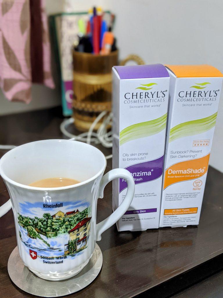 Cheryl's Clenzima Face Wash & DermaShade SPF 30 Spray review