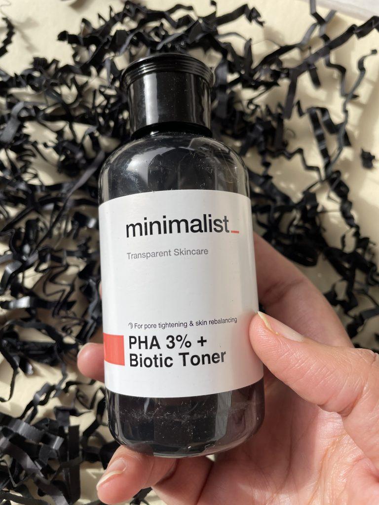 Minimalist PHA 3% + Biotic Toner review