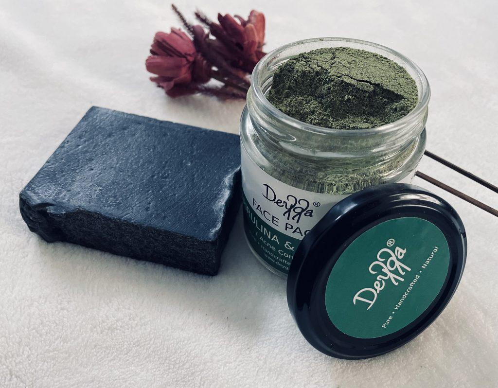 Deyga spirulina & matcha face pack review